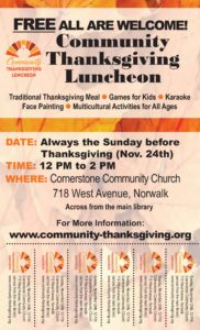 CTL Flyer_Thanksgiving Community Luncheon