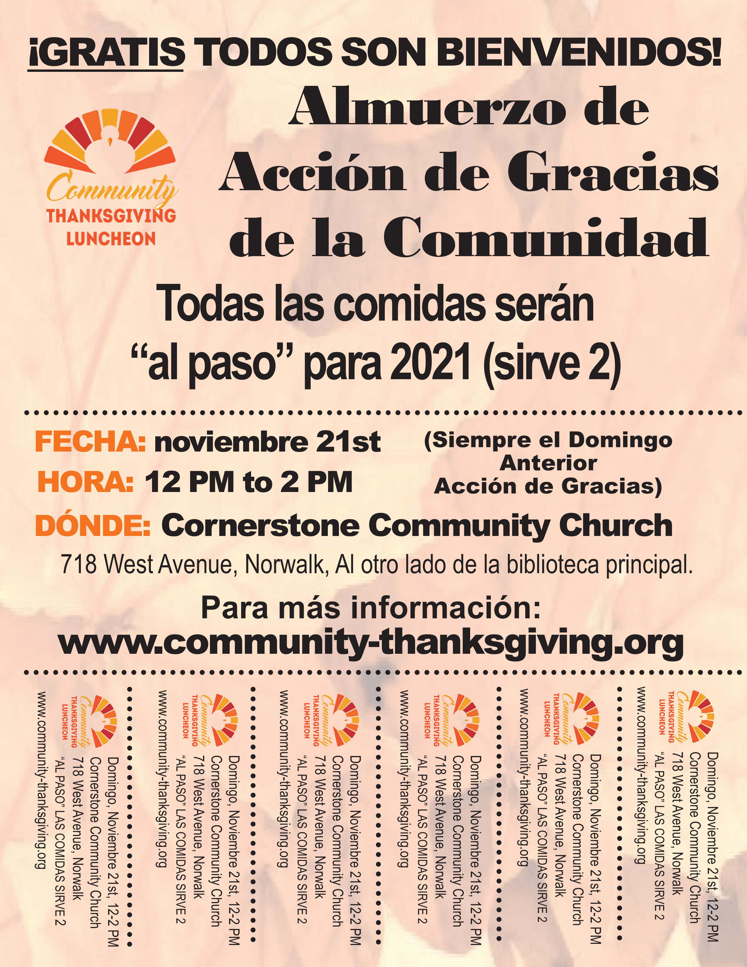 CTL Spanish Flyer with Tabs_Thanksgiving Community Luncheon
